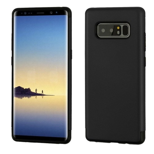 Insten Hard Dual Layer Plastic TPU Case For Samsung Galaxy Note 8 - Black