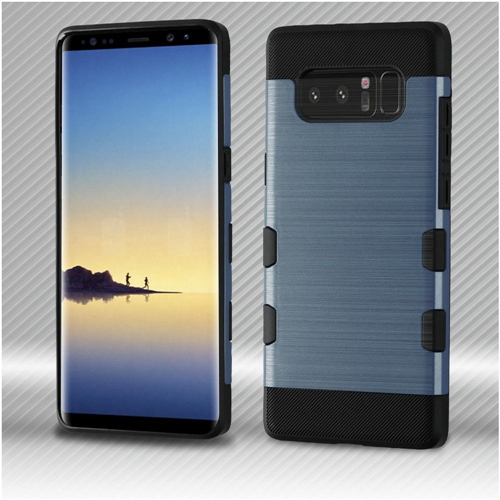 Insten Tuff Hard Dual Layer Brushed TPU Case For Samsung Galaxy Note 8 - Blue/Black