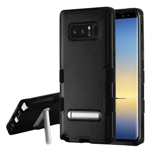 Insten Tuff Hard Hybrid Plastic TPU Cover Case w/stand For Samsung Galaxy Note 8 - Black