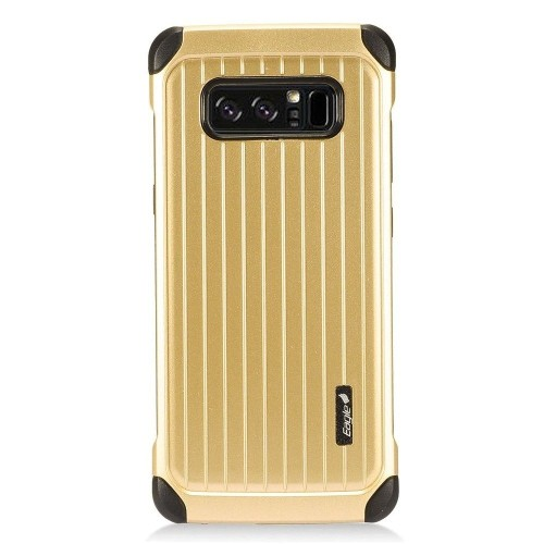 Insten Carry On Hard Dual Layer Plastic Cover Case For Samsung Galaxy Note 8 - Gold/Black