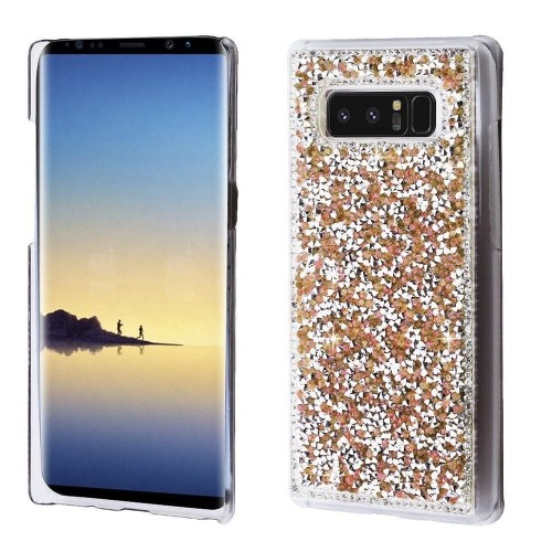 Insten Hard Diamante Cover Case For Samsung Galaxy Note 8 - Rose Gold