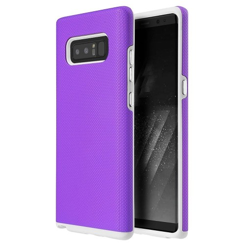 Insten Hard Hybrid Plastic TPU Cover Case For Samsung Galaxy Note 8 - Purple/White