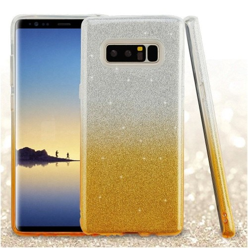 Insten Gradient Glitter Hard Hybrid Plastic TPU Case For Samsung Galaxy Note 8 - Gold
