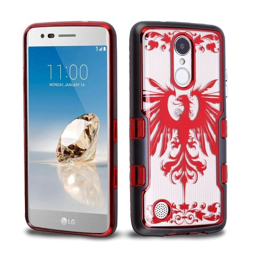Insten Eagle Crest Hard Case For LG Aristo/Fortune/K4 (2017)/K8 (2017)/LV3/Phoenix 3/Rebel 2, Red