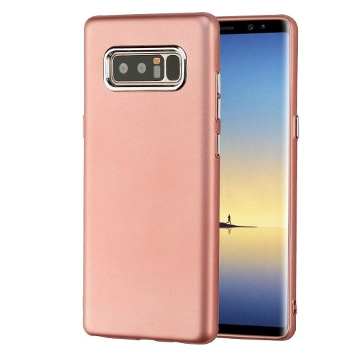 Insten Electroplating Accents Gel Case For Samsung Galaxy Note 8 - Rose Gold
