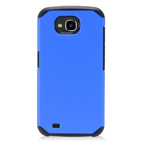 Insten Hard Hybrid Plastic TPU Case For LG X Venture - Blue/Black