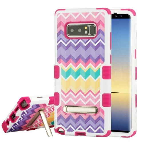 Insten Camo Wave Hard Hybrid Plastic TPU Cover Case w/stand For Samsung Galaxy Note 8 - Multi-Color