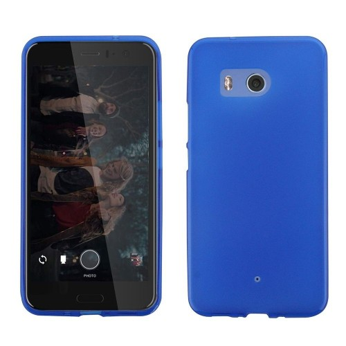 Insten Frosted Gel Cover Case For HTC U11 - Blue