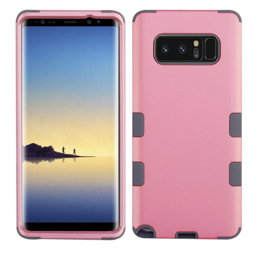 Insten Tuff Hard Hybrid TPU Cover Case For Samsung Galaxy Note 8 - Pink/Gray