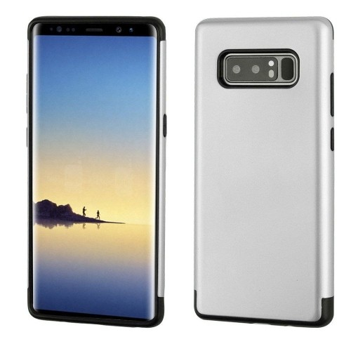 Insten Hard Hybrid Plastic TPU Cover Case For Samsung Galaxy Note 8 - Silver