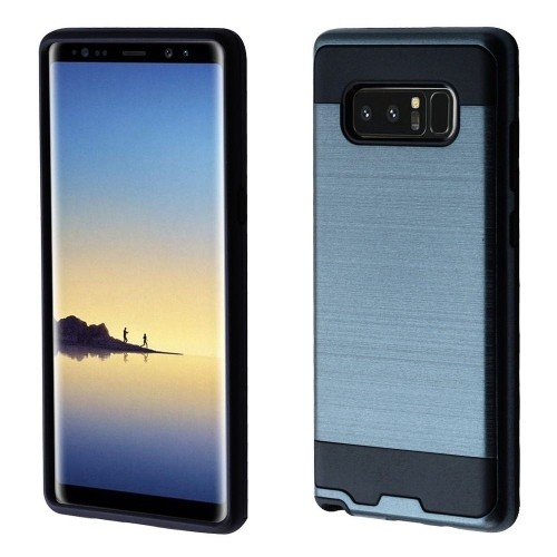 Insten Hard Dual Layer Brushed TPU Cover Case For Samsung Galaxy Note 8 - Grayish Blue/Black