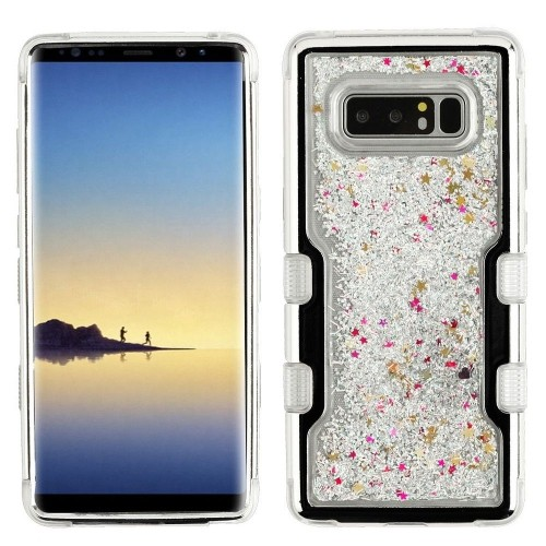 Insten Sparkling QuickSand Hard Hybrid Plastic TPU Cover Case For Samsung Galaxy Note 8, Multi-Color