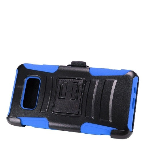 Insten Advanced Armor Hard Plastic Cover Case w/stand For Samsung Galaxy S8 Active, Black/Blue
