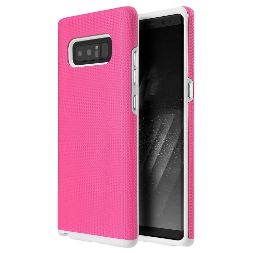 Insten Hard Hybrid Plastic TPU Case For Samsung Galaxy Note 8 - Pink/White