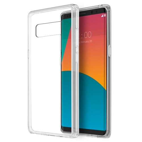 Insten Fusion Candy Acrylic Plastic TPU Case For Samsung Galaxy Note 8 - Clear