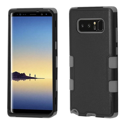 Insten Fitted Soft Shell Case for Samsung Galaxy Note 8 - Black;Gray