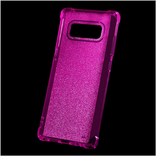 Insten Sheer Glitter Gel Case For Samsung Galaxy Note 8 - Hot Pink