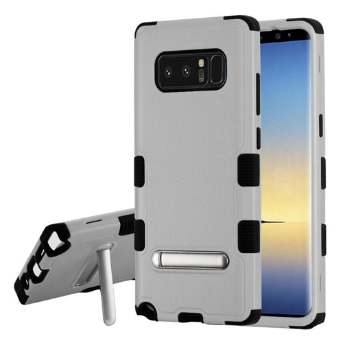 Insten Tuff Hard Hybrid Plastic TPU Case w/stand For Samsung Galaxy Note 8 - Gray/Black