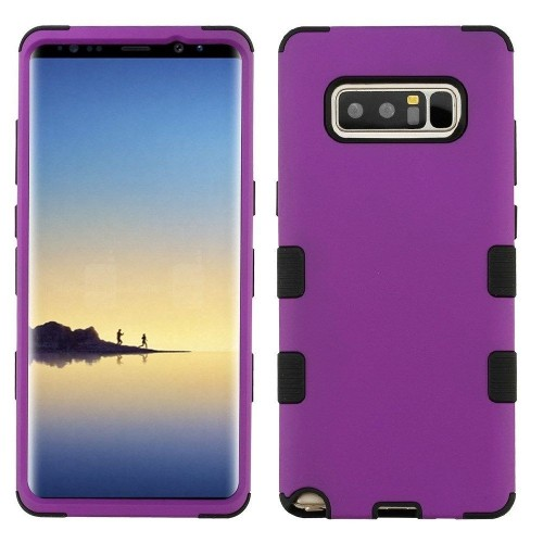 Insten Tuff Hard Hybrid TPU Cover Case For Samsung Galaxy Note 8 - Purple/Black