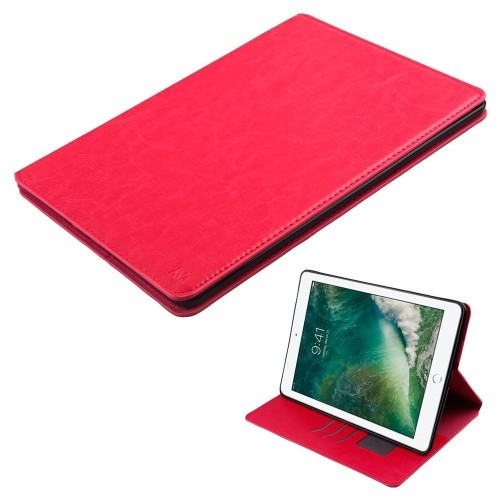 "Insten Book-Style Leather Fabric Cover Case w/card slot/Photo Display For iPad Pro 10.5"", Hot Pink"