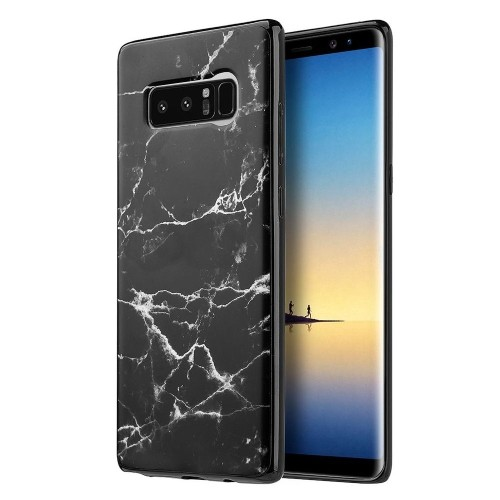 Insten Marble Gel Cover Case For Samsung Galaxy Note 8 - Black