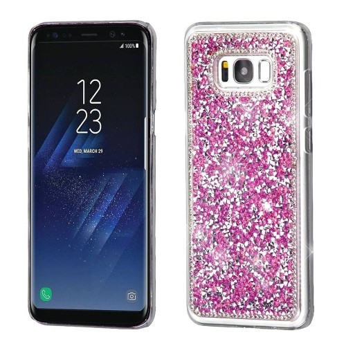 Insten Hard Crystal Case w/Diamond For Samsung Galaxy S8 - Hot Pink