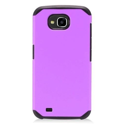 Insten Hard Dual Layer Plastic TPU Case For LG X Venture - Purple/Black
