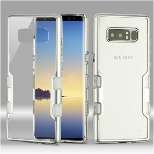 Insten Fitted Soft Shell Case for Samsung Galaxy Note 8 - Silver;Clear