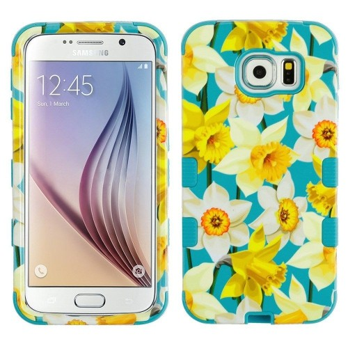 Insten Spring Daffodils Hard Hybrid Plastic TPU Cover Case For Samsung Galaxy S6 - Multi-Color