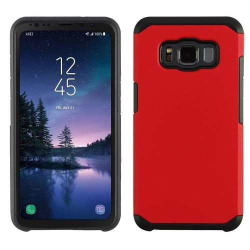 Insten Astronoot Hard Hybrid Plastic TPU Case For Samsung Galaxy S8 Active - Red/Black