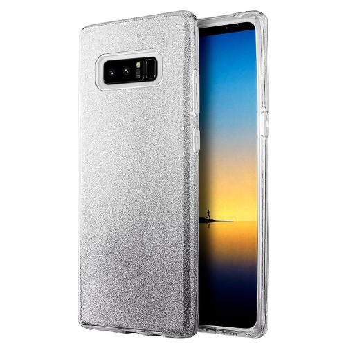 Insten Starry Dazzle Hard Plastic TPU Case For Samsung Galaxy Note 8 - Silver/Black