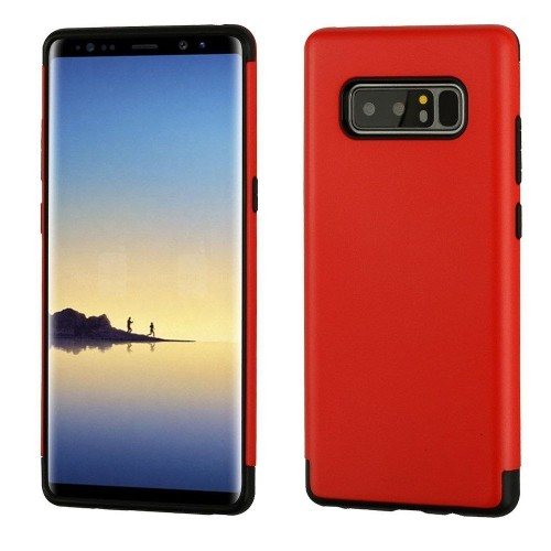 Insten Hard Dual Layer Plastic TPU Case For Samsung Galaxy Note 8 - Red