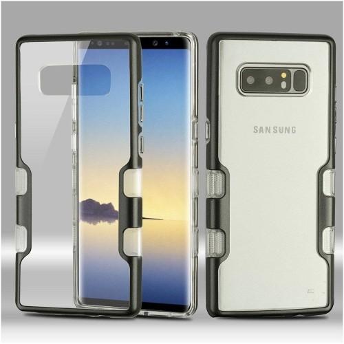 Insten Hard Hybrid Metallic TPU Case For Samsung Galaxy Note 8 - Clear/Black