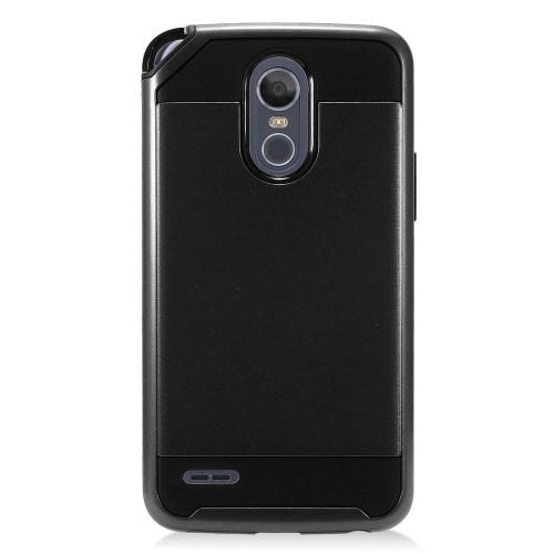 Insten Hard Hybrid Brushed TPU Case For LG Stylo 3 Plus - Black