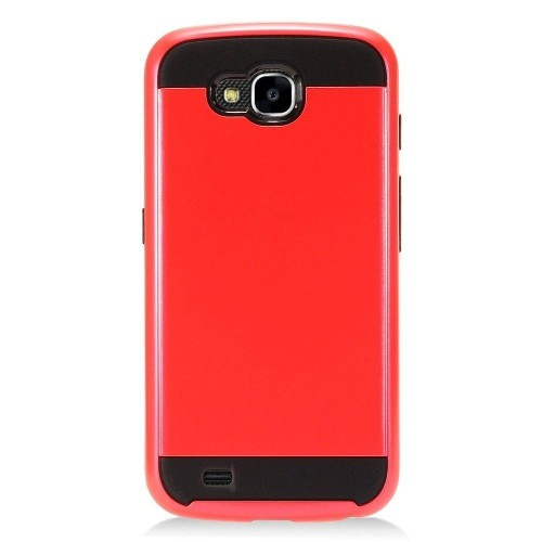 Insten Hard Hybrid Brushed TPU Case For LG X Venture - Red/Black