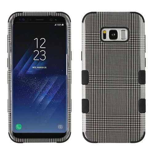 Insten Tuff Blazer Hard Hybrid Plastic TPU Case For Samsung Galaxy S8 Plus - Gray/Black