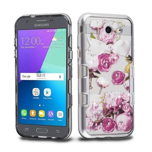 Insten Roses Hard Case For Samsung Galaxy J3 (2017)/J3 Eclipse/J3 Emerge/J3 Prime, Pink