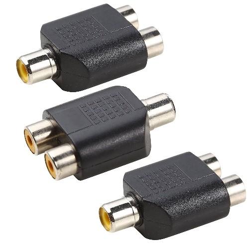 (3 pack ) RCA Y Splitter Dual 2 Female to 3.5mm 1 Female Jack for Audio Video AV TV