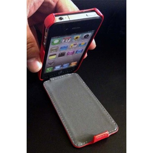 Navor Fitted Hard Shell Case for iPhone 4S;iPhone 4 - Red