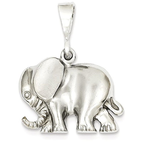 Icecarats 14k white gold elephant pendant charm necklace animal icecarats 14k white gold elephant pendant charm necklace animal necklaces best buy canada aloadofball Images