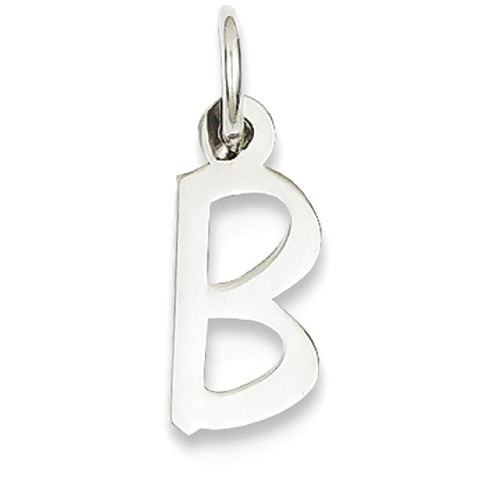IceCarats 14k White Gold Small Slanted Block Initial Monogram Name Letter B  Char