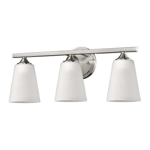 zoey 3 light bath vanity fixture in satin nickel other lamps
