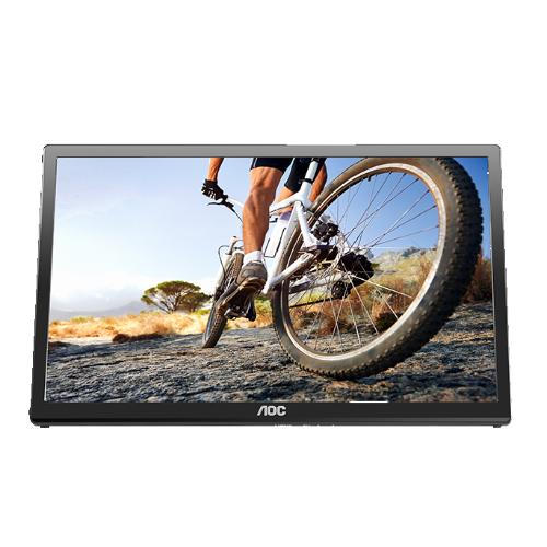 """AOC 17"""" 1600 x 900 10 ms GTG WLED Monitor - Black - (E1759FWU)"""