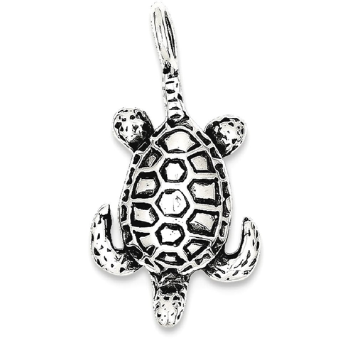 Icecarats 925 sterling silver sea turtle pendant charm necklace icecarats 925 sterling silver sea turtle pendant charm necklace life necklaces best buy canada aloadofball Image collections