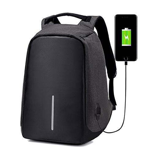 Anti-theft With USB Charging Port   Light-weight Student Functional  Business Laptop Backpack For Men   Women -Black   Backpacks - Best Buy  Canada e8143cfdac