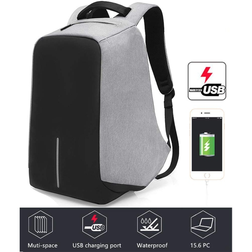 5a007cbb08 Anti-theft With USB Charging Port   Light-weight Student Functional  Business Laptop Backpack For Men   Women -Gray   Backpacks - Best Buy Canada