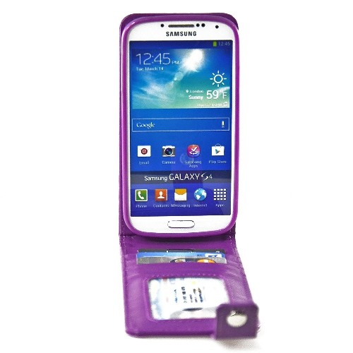 Navor Wallet Case for Samsung Galaxy S4 - Purple