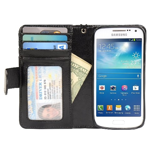 Navor Samsung Galaxy S4 Mini Book Style Wallet PU Leather Case