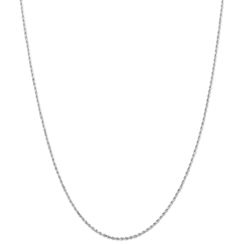 IceCarats 14k White Gold 1.5mm Link Rope Chain Necklace 24 Inch Handmade