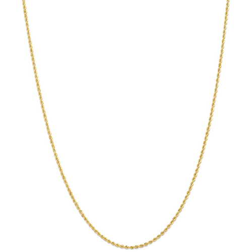 IceCarats 14k Yellow Gold 2mm Handmade Link Rope Chain Necklace 24 Inch